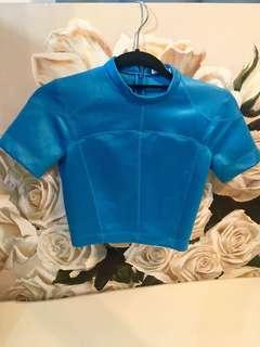 Alexander Wang Blue Crop Top Petite Small