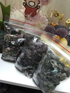 紫鈦,拉長石,碧壐多款水晶碎石 每包100克