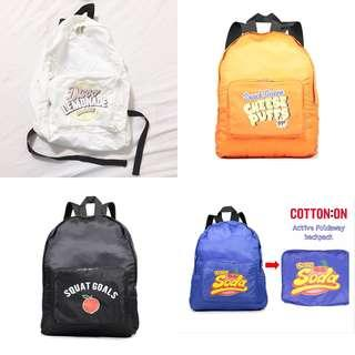 Cotton On Foldaway Backpack