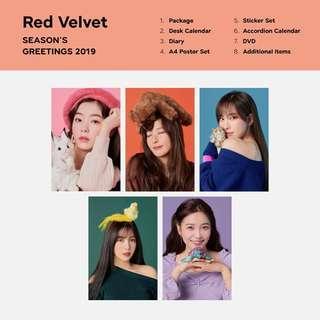 (LOOSE ITEM) Red Velvet 2019 Season's Greeting