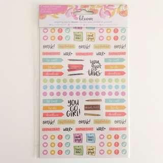 Bloom Productivity Planner Stickers