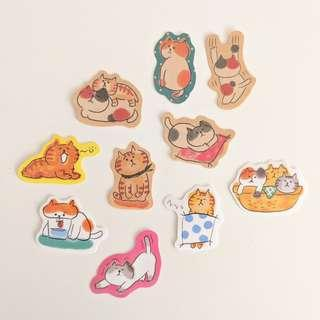 Cat Sticker Set B
