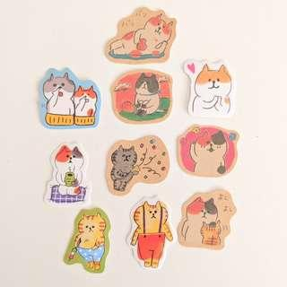 Cat Sticker Set C