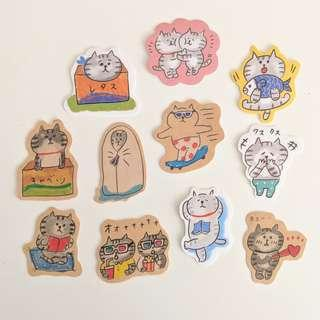 Cat Sticker Set D