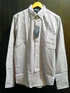 Authentic Tommy Hilfiger striped long sleeve mens polo