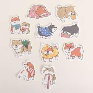 Dog Sticker Set B