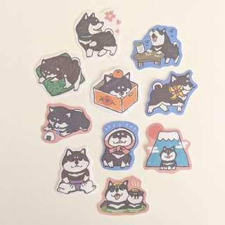 Dog Sticker Set C