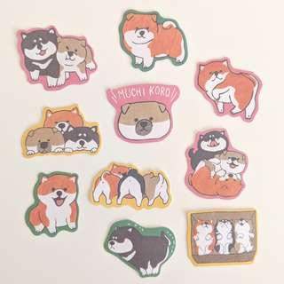 Dog Sticker Set D