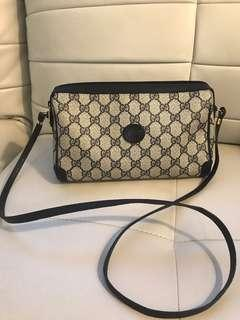 Authentic Navy Blue Gucci Crossbody Bag