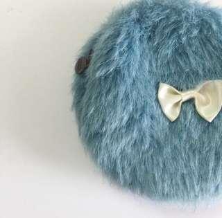 藍色 毛毛散紙包 coins bag 包平郵