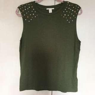 Forever 21 Sleeveless Shirt with Embellishments