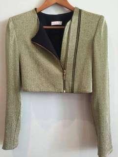 "Sass & Bide gold crop jacket ""the golden one"""