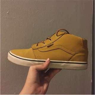 (Authentic) Vans Chapman Hi Top Sneaker Oak/Mustard color #SBUX50