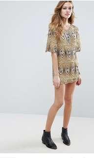 PRICE REDUCED!! Raga Sarah Tunic Beaded Mini Dress