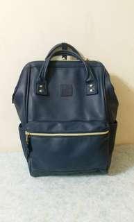 海軍藍Anello backpack背囊防水料