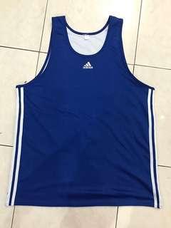 Baju basket adidas ori ukuran besar XL