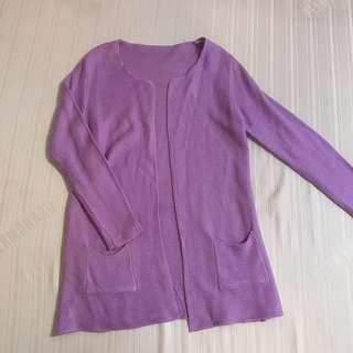 PASTEL KNITTED PURPLE CARDIGAN S-M