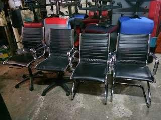 Steel office chairs