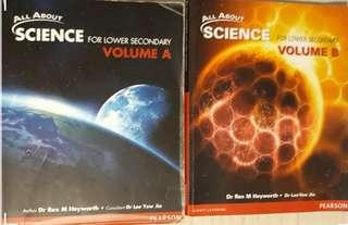 FAST DEAL - Pearson - Lower secondary Science book by Dr Rex M Heyworth
