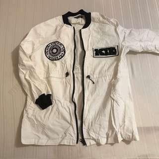 LONG BOMBER JACKET FITS S-L