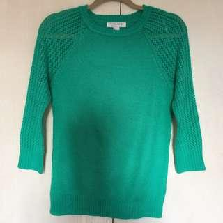 Forever 21 Essentials Sweater with Open-work Sleeves