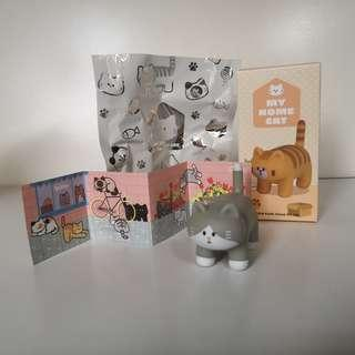 Fluffy House My Home Cat Vinyl Toy Figurine - Light Grey Tabby Socks