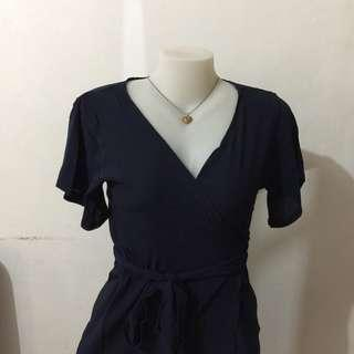 Plain Maxi Wrap Dress