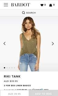 Bardot Riki Linen Tank