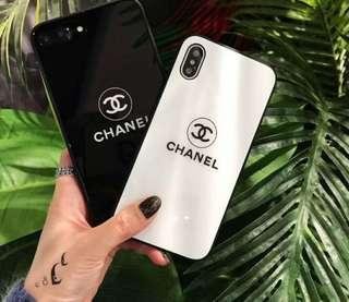 Chanel Apple iPhone Luxury Brand Glass Cover Free Lanyard