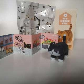 Fluffy House My Home Cat Vinyl Toy Figurine - Dark Grey Tabby Socks