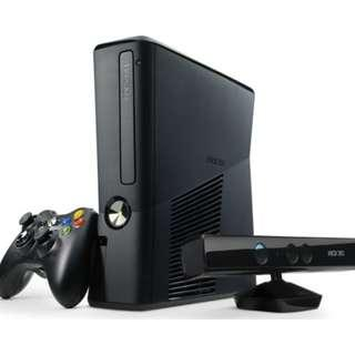 RUSH: XBOX 360 with KINECT 320gb -USED