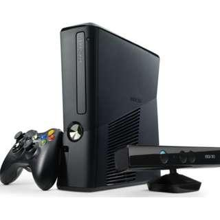 RUSH XBOX 360 4gb with KINECT -USED