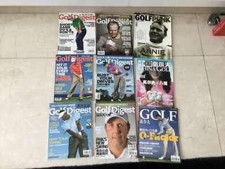 Golf magazines in 2008,2010,2011, $5 for all