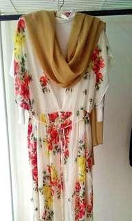 Dress + Pashmina (dapat 3 item)