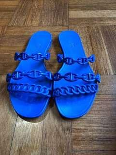 (Reserved on Closets) AUTHENTIC HERMES JELLY SANDALS