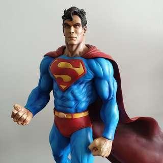 Troy McDevitt Superman Painted Statue