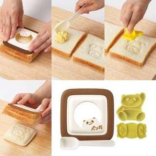 《日本製》AKEBONO 熊貓三文治模具 Sand-de-Panda Sandwich Press Mold Panda Stamp Set