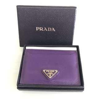 《經典Logo》Prada Card Holder (Color: Purple)