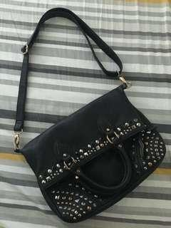 Authentic Aldo two way studded bag