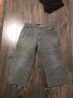 Grey Denim Polo Jeans