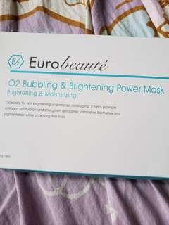 Euro Beaute O2 Bubbling & Brightening Power Mask
