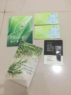 Nature republic and innisfree mask