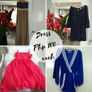 Dress for Php 100 each