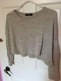 Beige Cropped Top