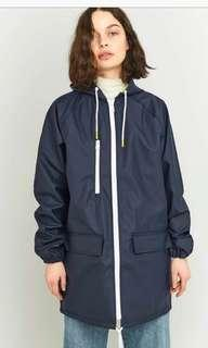 BDG Anorak Navy Raincoat