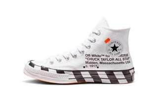 Brand new Converse x Off White