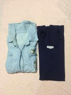 Denim Longsleeve Polo + Free F21 Dress
