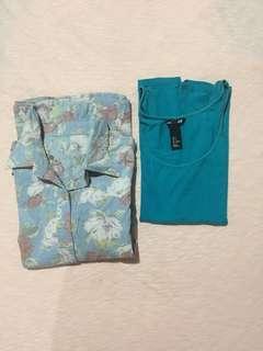 Floral Long Sleeve blouse + Free H&M Sleeveless
