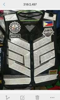 Vest banner embroid print sash