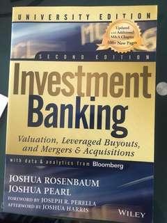 Investment Baking Second Ed by Joshua Rosenbaum Joshua Pearl
